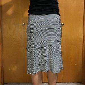 INC International Concepts Skirts - INC STRIPED SKIRT